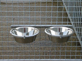 Double Dog Bowl and Holder