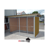 Eco Plastic Complete Dog Kennel - 4m x 2m x 1.84 high