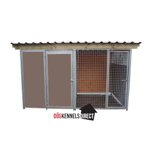 Eco Plastic Complete Dog Kennel - 2m x 2m x 1.84 high