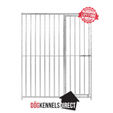 Galvanised Dog Panel - 1.22m x 1.84m with 8cm Gap & Right Hand Door