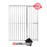 Galvanised Dog Panel - 1.22m x 1.84m with 5cm Gap and Right Hand Door