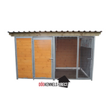 Complete Dog Kennel with Run - 3m x 1.5m x 1.84 Tall