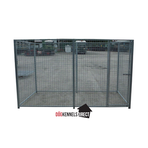 Mesh Modular Dog Kennel - 4m x 2m x 6ft - Without Roof