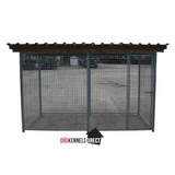 Mesh Modular Dog Kennel - 3m x 2m x 6ft - With Roof