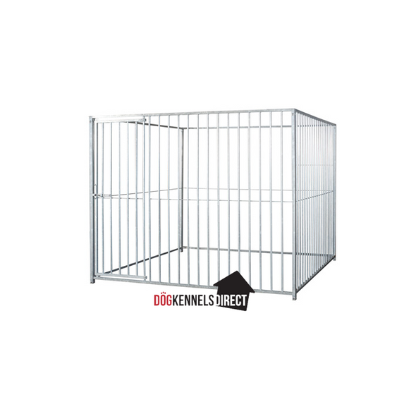 Modular Dog Kennel 8cm Bar 4m x 2m x 6ft - Without Roof