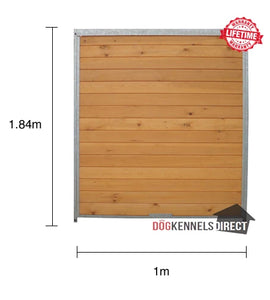 Wooden Kennel Panel - 1.0m x 1.84m