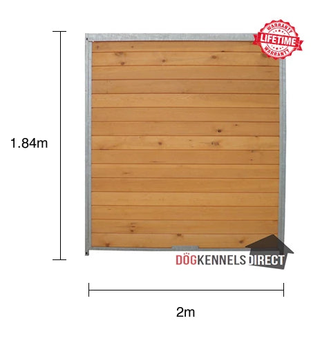 Wooden Kennel Panel - 2.0m x 1.84m