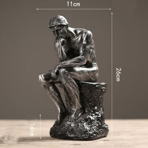 Figurine  Abstract Art Thinker Statue