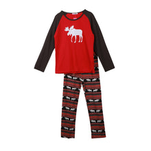 Load image into Gallery viewer, Pajamas Xmas Moose Fairy Christmas Set