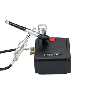 Spray Gun Airbrush with Compressor Airbrush Kit for Model/Cake/Car Painting