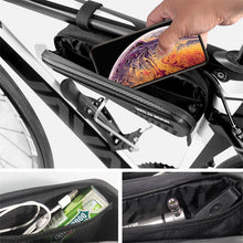 Load image into Gallery viewer, Bicycle Bag Front Tube Frame Bag Hard Shell Rainproof