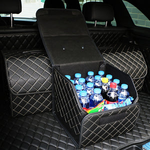 Car Trunk Organizer with Lid Portable box