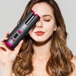 Curling Wand Iron Automatic Hair Curler LCD Display