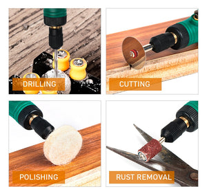 Electric Drill  Cordless Rotary Tool USB Woodworking