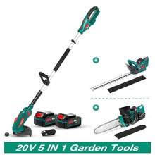 Load image into Gallery viewer, Grass Trimmer Cordless Telescopic Pole Household Garden Tool Set