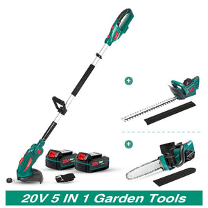 Grass Trimmer Cordless Telescopic Pole Household Garden Tool Set