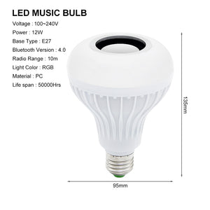 Illuminating LED Light Bulb Speaker