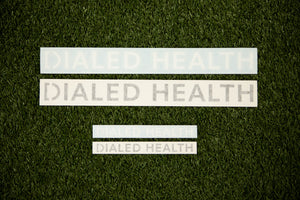 Dialed Health Text Decal