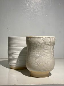 Small White Ceramic Pots