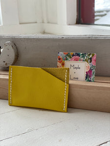Small Card Pouch - Yellow