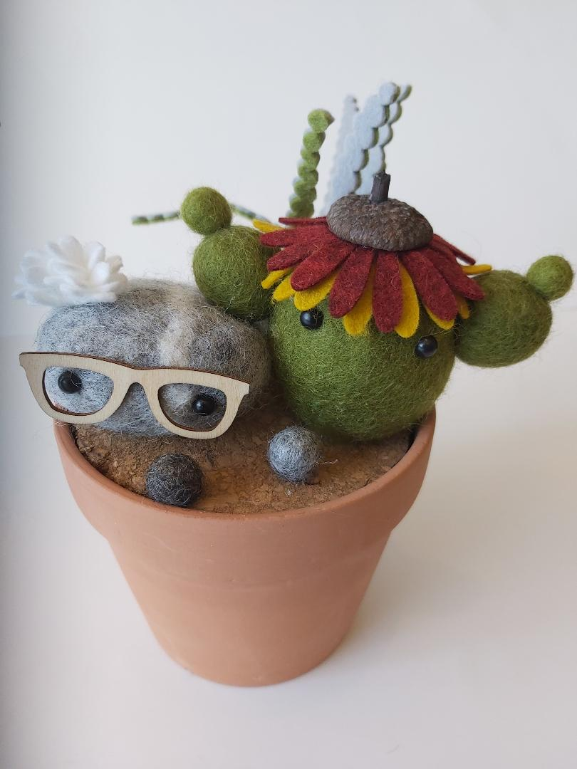 Cactus - Potted With Glasses