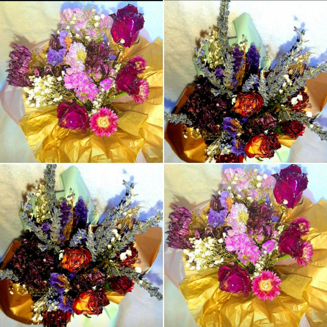 Flowers - Resin Dipped Dried Flower Bouquets