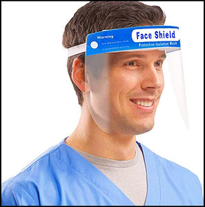 500pcs Face Shields: Transparent Visor Protection