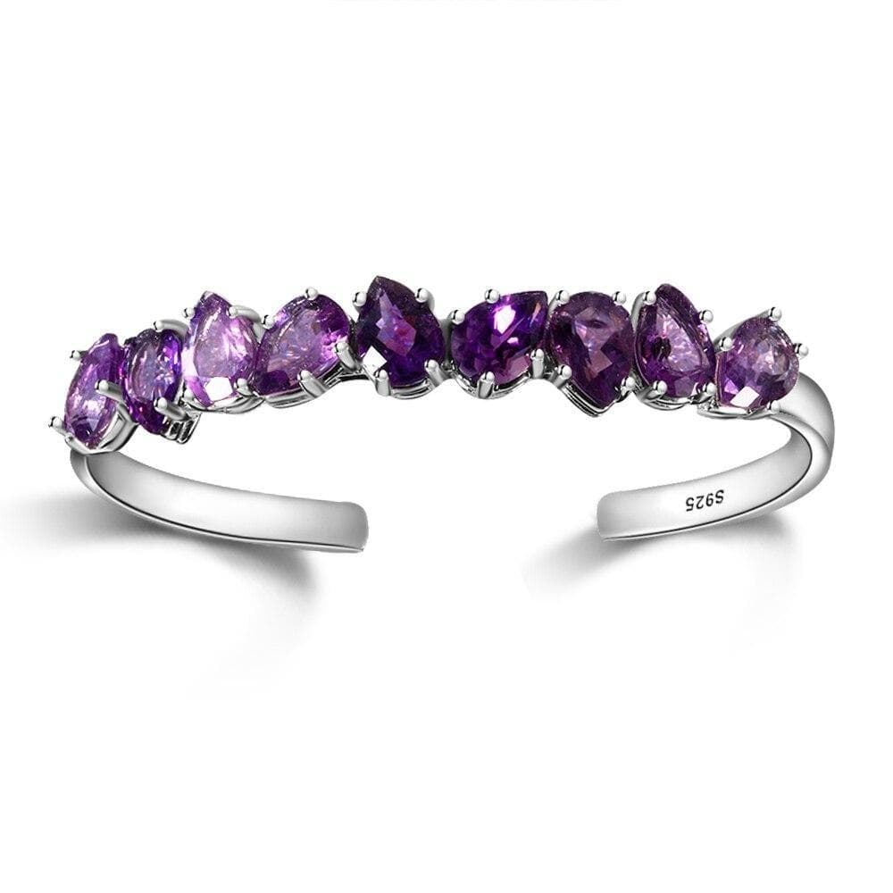 Bracelet argent 925 diamants violet
