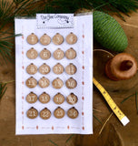 Christmas Ball Advent Calendar Tags