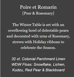 Poire et Romarin (Pear and Rosemary)