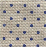 Petit Point Raw Navy 32 Count Linen