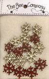 Mini Snowflakes - Buttons