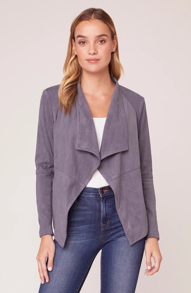 WADE FAUX SUEDE JACKET Grey