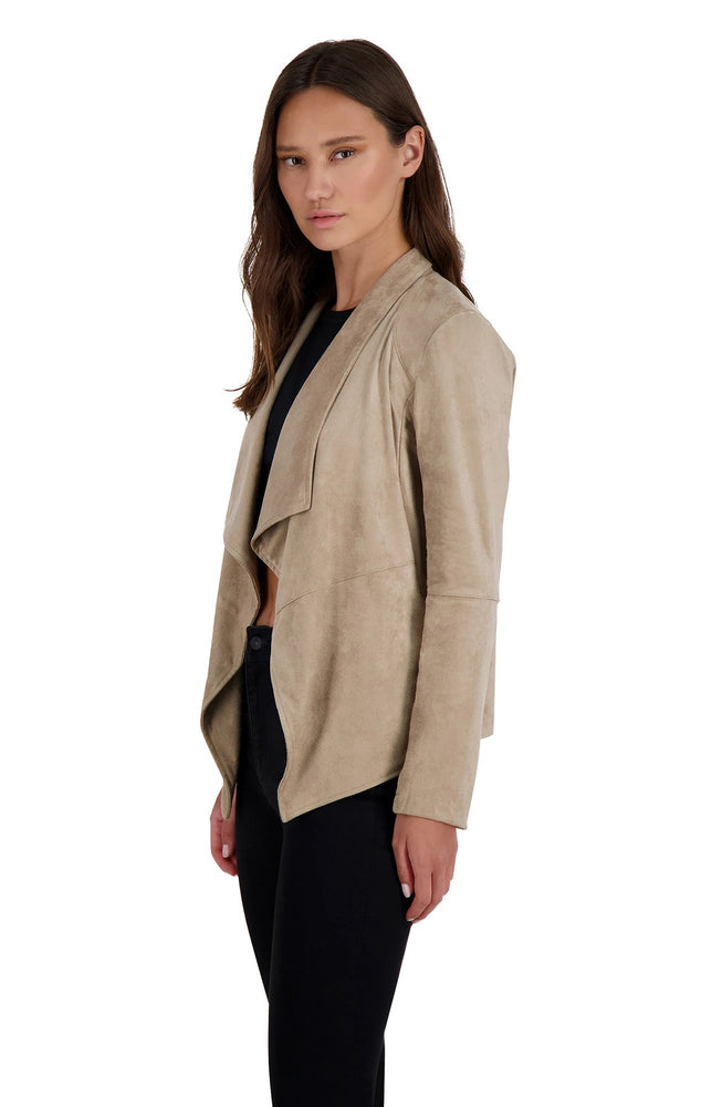 WADE FAUX SUEDE JACKET Stone