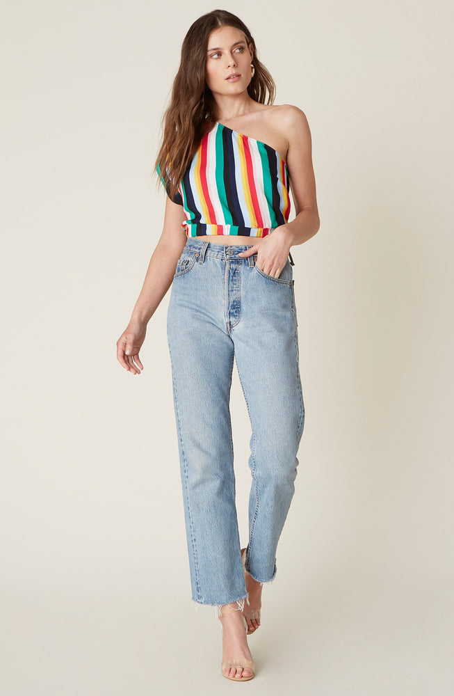 SLICE OF LIFE ONE-SHOULDER TOP