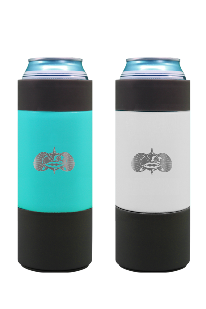 Non-Tipping Slim Can Cooler by Toadfish- Teal