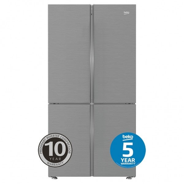 626L Stainless Steel Four Door Fridge with Internal Water & Automatic Ice