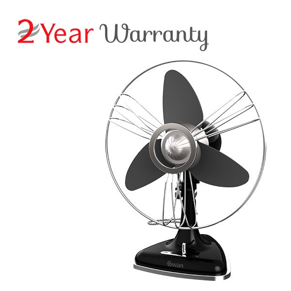 Swan SFA1EDBA RETRO EVA BLADES DESK FAN 30CM (BLACK)