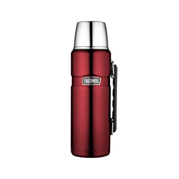 Thermos SK2010RAUS 1.2L Stainless King Stainless Steel Vacuum Insulated Flask ? Red