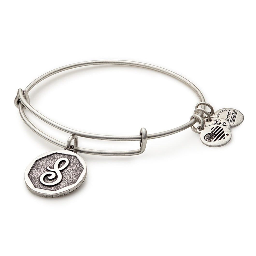 Alex and Ani | Rafaelian Silver Initial S Adjustable Bangle Bracelet