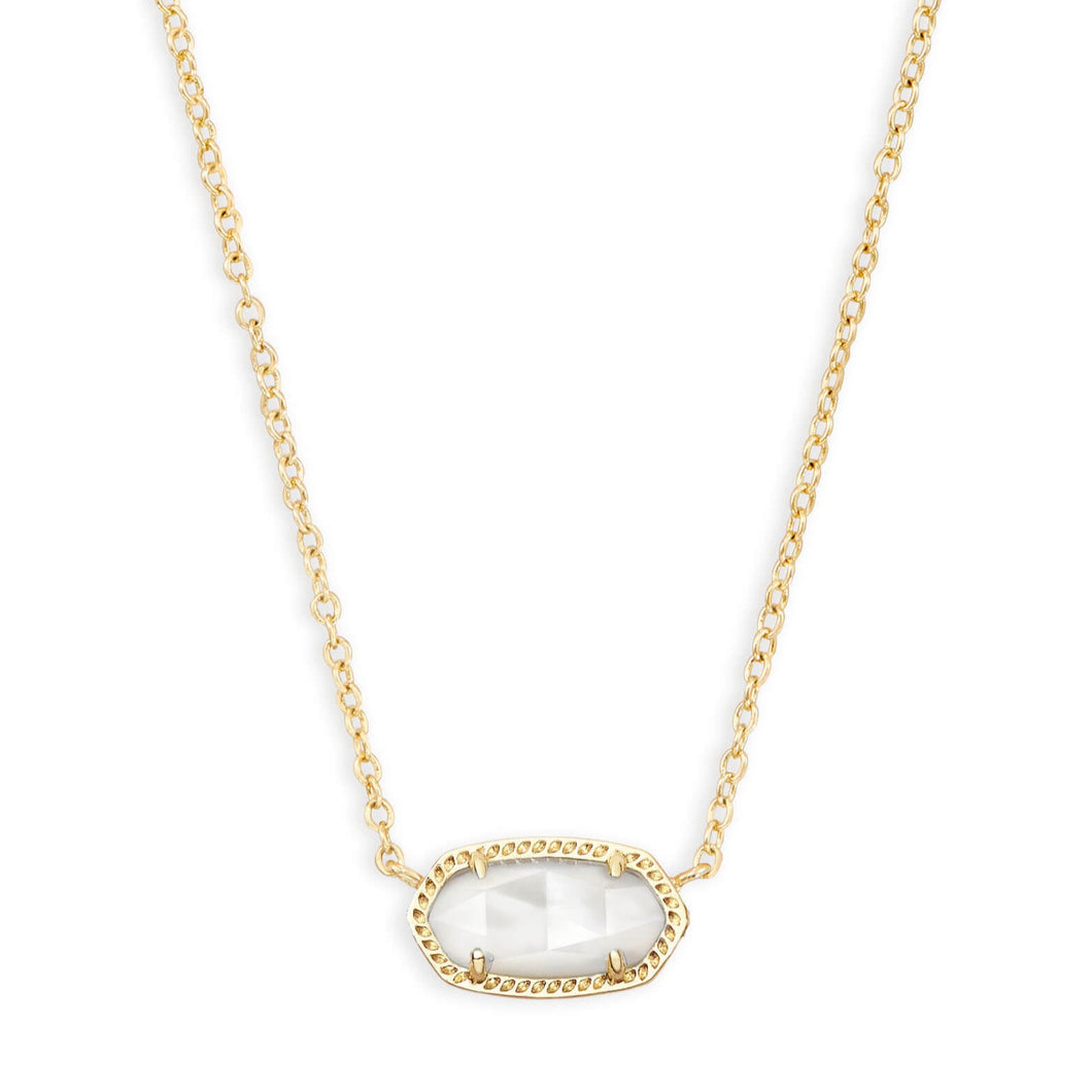 Kendra Scott | 14 KT Yellow Gold Ivory Mother of Pearl Elisa Necklace