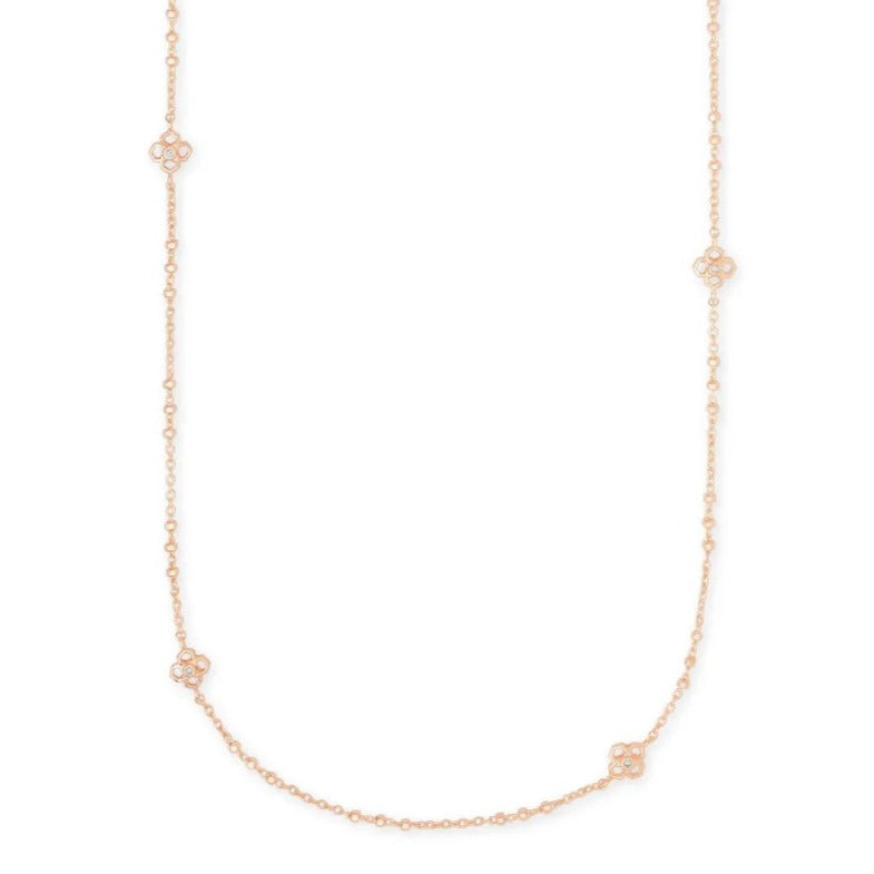 Kendra Scott | Rue Long Strand Necklace in Rose Gold Metal