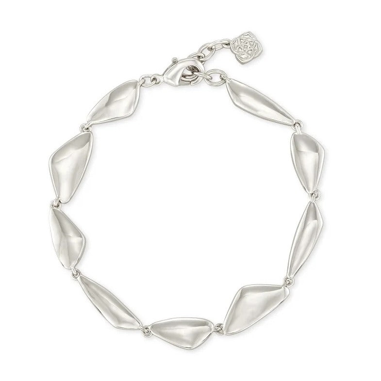 Kendra Scott | 14 KT Silver Rhodium Plated Over Brass Kira Link Bracelet
