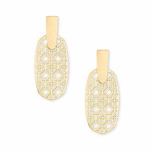 Kendra Scott | 14 KT Gold Plated Aragon Filigree Drop Earrings