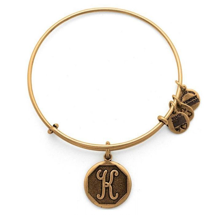 Alex and Ani | Rafaelian Gold Initial K Adjustable Bangle Bracelet