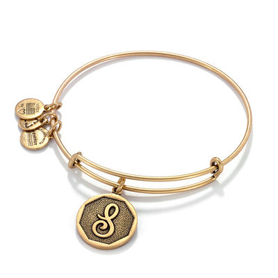 Alex and Ani | Rafaelian Gold Initial S Adjustable Bangle Bracelet