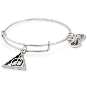 Alex and Ani | Harry Potter Deathly Hollows Adjustable Bangle Bracelet Silver