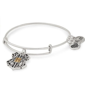Alex and Ani | Harry Potter Two Tone Hogwarts Crest Adjustable Bangle Bracelet Silver
