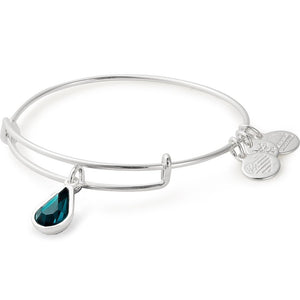 Alex and Ani | May Birthstone Swarovski Teardrop Adjustable Bangle Bracelet Silver