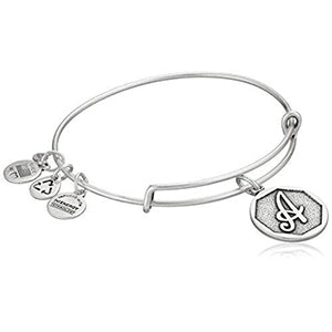Alex and Ani | Rafaelian Silver Initial A Adjustable Bangle Bracelet